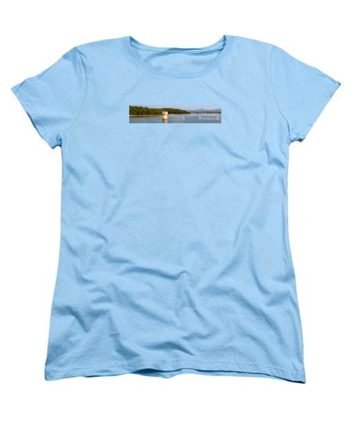 Women's T-Shirt (Standard Cut) featuring the photograph Blue Ridge Dam - Panoramic by Michael Waters