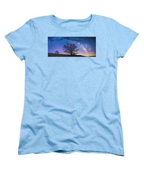 Blue Ridge Milkyway Women's T-Shirt (Standard Cut) by Robert Loe