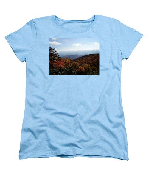Blue Ridge Mountains Women's T-Shirt (Standard Cut) by Flavia Westerwelle