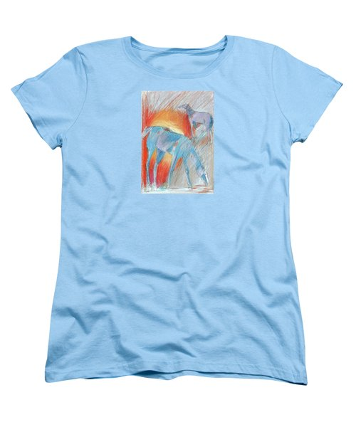 Blue Roans Women's T-Shirt (Standard Cut) by Mary Armstrong
