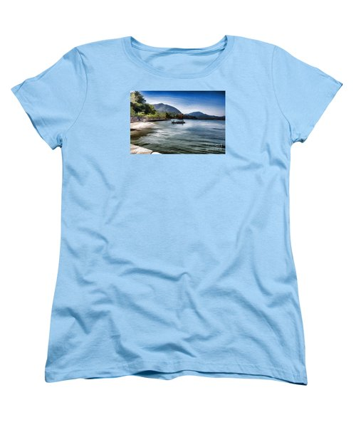 Blue Sea Women's T-Shirt (Standard Cut) by Pravine Chester