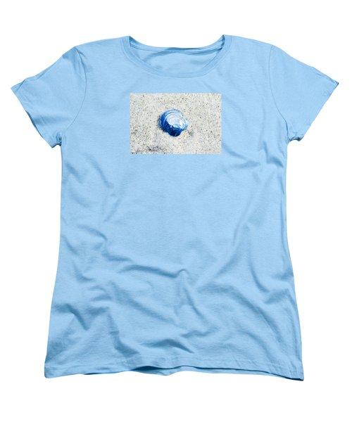 Blue Seashell By Sharon Cummings Women's T-Shirt (Standard Cut) by Sharon Cummings