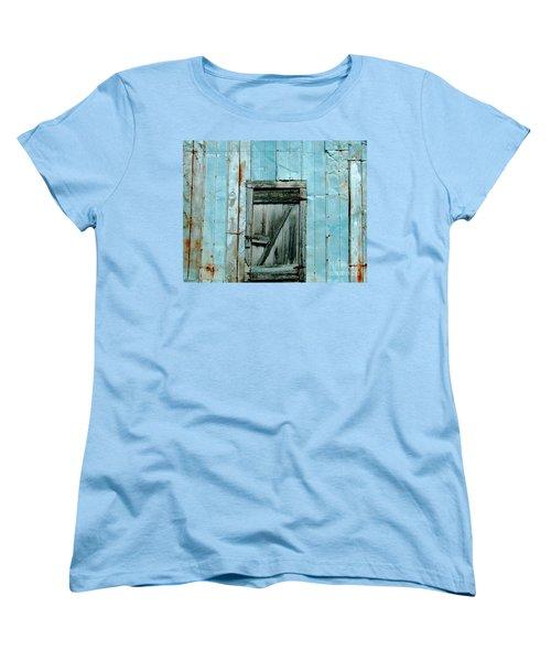 Blue Shed Door  Hwy 61 Mississippi Women's T-Shirt (Standard Cut) by Lizi Beard-Ward