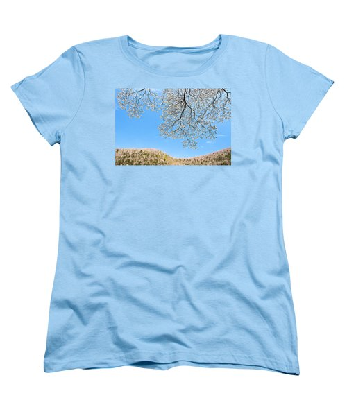 Women's T-Shirt (Standard Cut) featuring the photograph Blue Skies And Dogwood by Tamyra Ayles