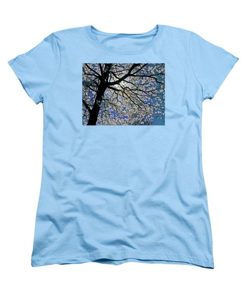 Women's T-Shirt (Standard Cut) featuring the photograph Blue Skies Smiling At Me by Linda Unger