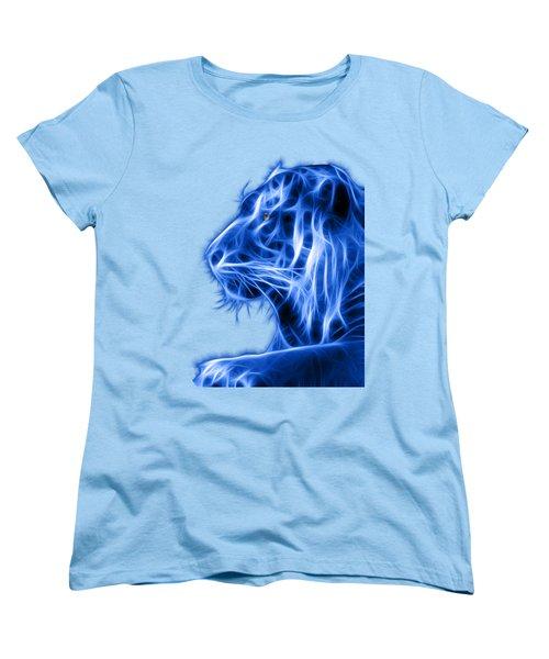 Women's T-Shirt (Standard Cut) featuring the photograph Blue Tiger by Shane Bechler