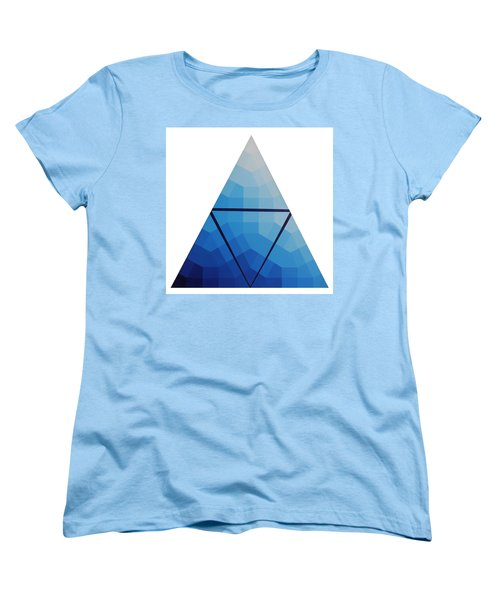 Blue Triangle - Wave Of Blue - Image #10 Women's T-Shirt (Standard Cut) by Peter Mooyman