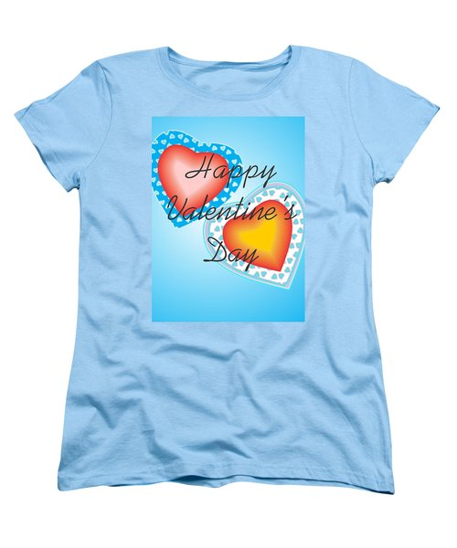 Blue Valentine Lace  Women's T-Shirt (Standard Cut) by Sherril Porter