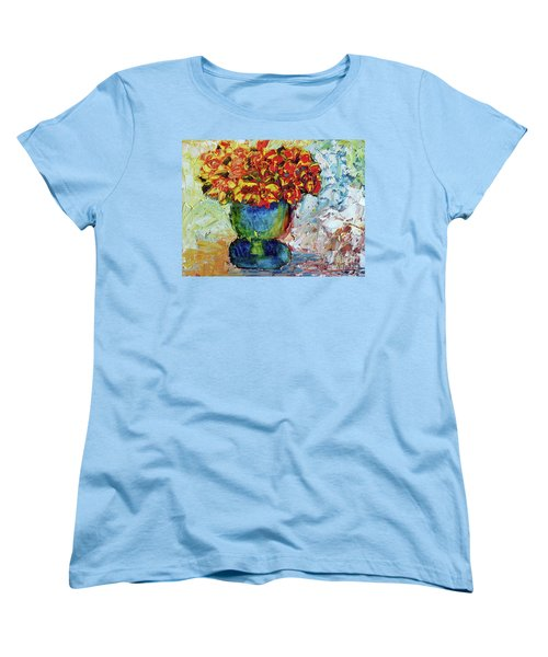 Blue Vase Women's T-Shirt (Standard Cut) by Lynda Cookson