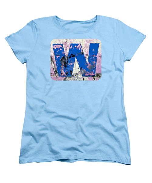 Women's T-Shirt (Standard Cut) featuring the photograph Blue W by Ethna Gillespie