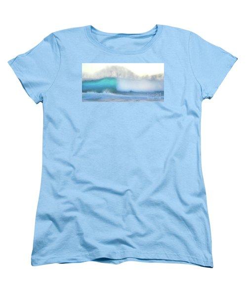 Women's T-Shirt (Standard Cut) featuring the photograph Blue Wave by Kristine Merc