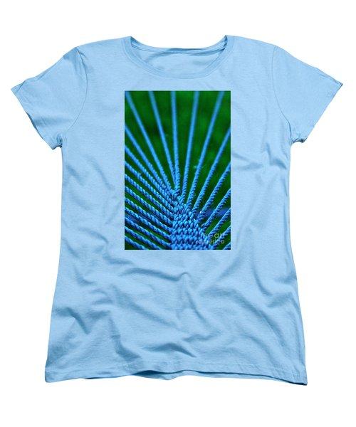 Blue Weave Women's T-Shirt (Standard Cut) by Xn Tyler