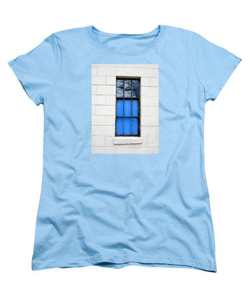 Blue Window Panes Women's T-Shirt (Standard Cut) by Sandra Church