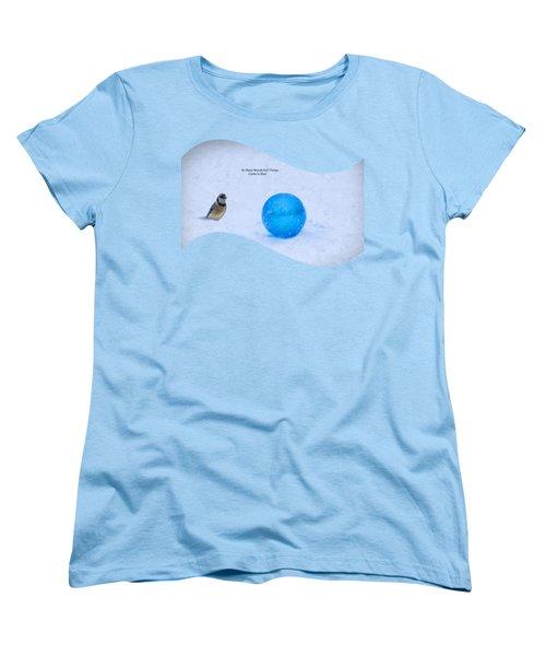 Blue Winter Women's T-Shirt (Standard Cut) by Linda Troski