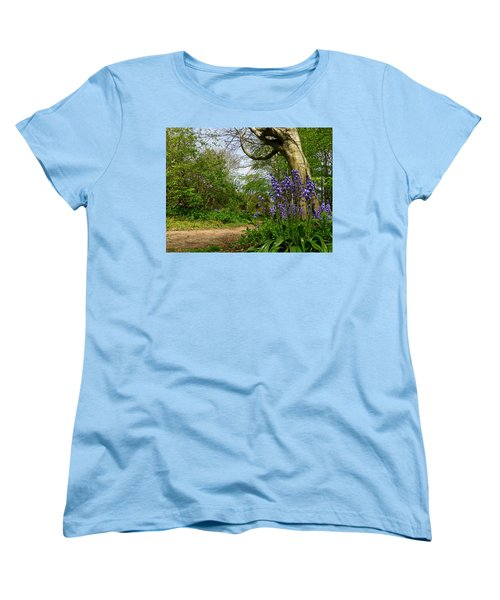 Bluebells By The Tree Women's T-Shirt (Standard Cut) by John Topman