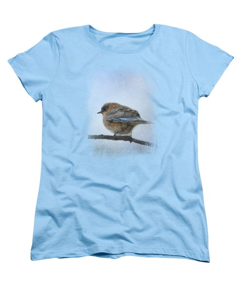 Bluebird In The Snow Women's T-Shirt (Standard Cut)