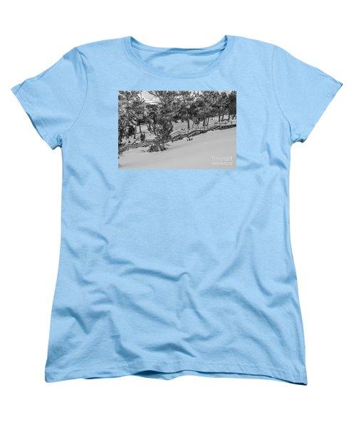 Boardwalk Climbing A Hill Women's T-Shirt (Standard Cut) by Sue Smith