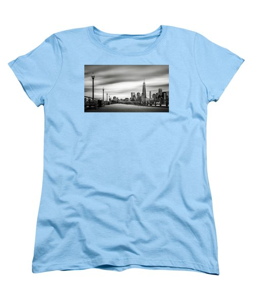 Women's T-Shirt (Standard Cut) featuring the photograph Boardwalk Into The City by Eduard Moldoveanu