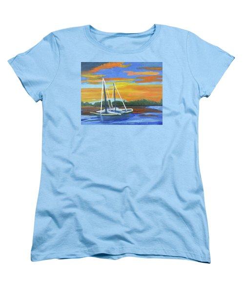 Boat Adrift Women's T-Shirt (Standard Cut) by Margaret Harmon