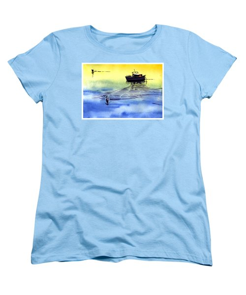 Boat And The Seagull Women's T-Shirt (Standard Cut)