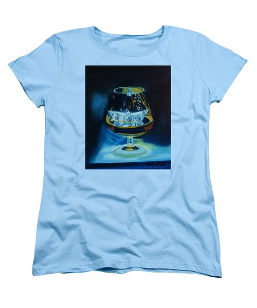Women's T-Shirt (Standard Cut) featuring the painting Boat In A Glass by Rod Jellison