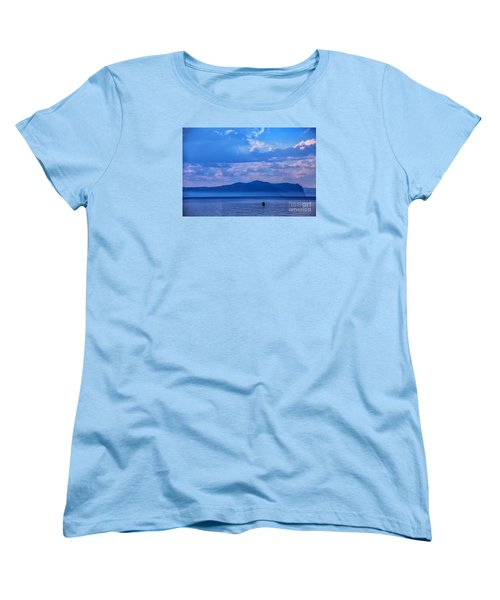 Women's T-Shirt (Standard Cut) featuring the photograph Boat In Lake by Rick Bragan