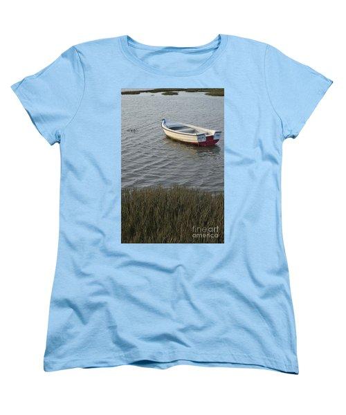 Boat In Ria Formosa - Faro Women's T-Shirt (Standard Cut) by Angelo DeVal