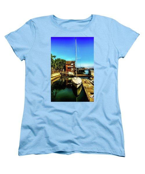 Boat Landing P O C Women's T-Shirt (Standard Cut) by Joseph Hollingsworth