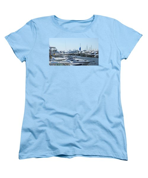 Boat Show On The Bay Women's T-Shirt (Standard Cut) by Charles Kraus