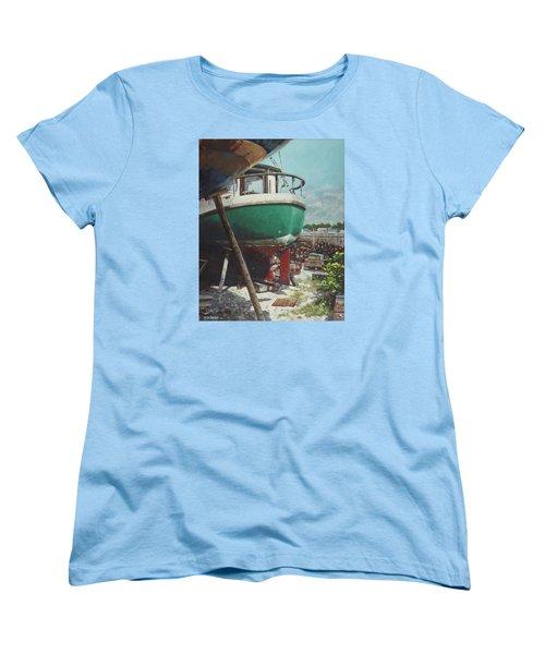 Boat Yard Boat 01 Women's T-Shirt (Standard Cut) by Martin Davey