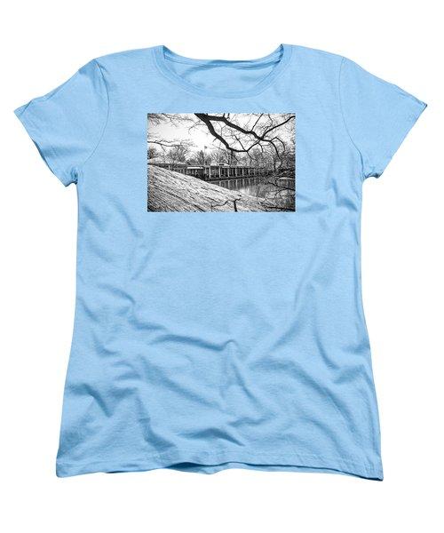 Boathouse Central Park Women's T-Shirt (Standard Cut) by Alan Raasch