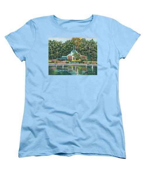 Boathouse In Central Park, N.y. Women's T-Shirt (Standard Cut)