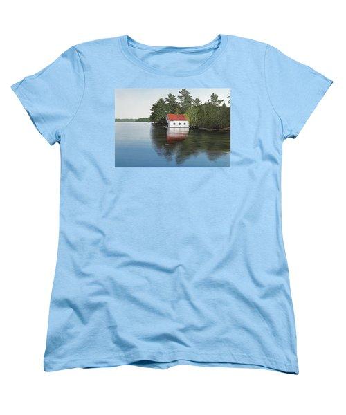 Boathouse Women's T-Shirt (Standard Cut) by Kenneth M  Kirsch