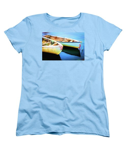 Boats Women's T-Shirt (Standard Cut) by Andre Faubert