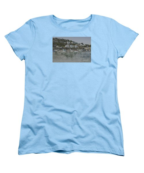 Boats At Looe Women's T-Shirt (Standard Cut)