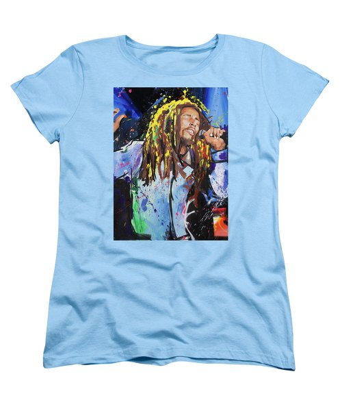 Bob Marley Women's T-Shirt (Standard Cut) by Richard Day