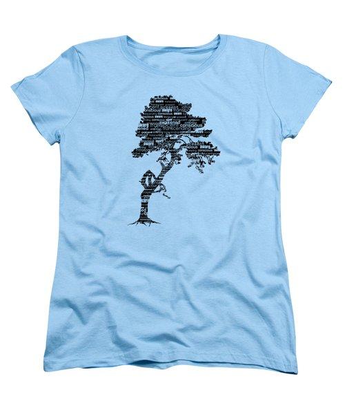 Women's T-Shirt (Standard Cut) featuring the digital art Bodhi Tree Of Awareness by Tammy Wetzel