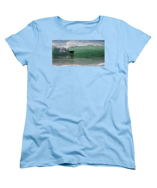 Body Surfer Women's T-Shirt (Standard Cut) by Jim Gillen