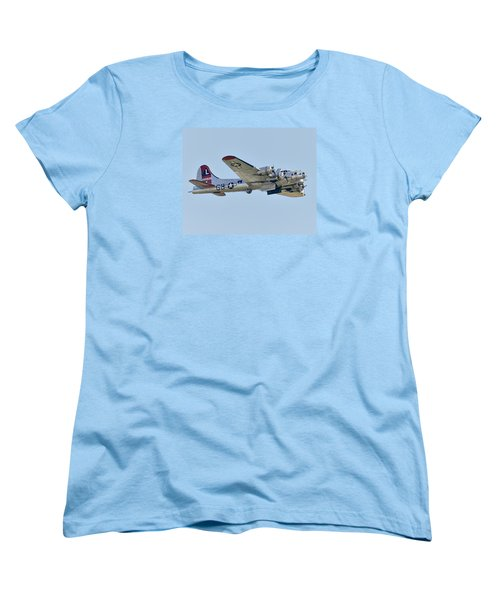 Boeing B-17g Flying Fortress Women's T-Shirt (Standard Cut) by Alan Toepfer