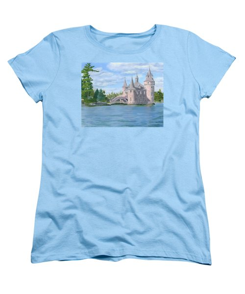 Women's T-Shirt (Standard Cut) featuring the painting Boldt's Power House by Lynne Reichhart