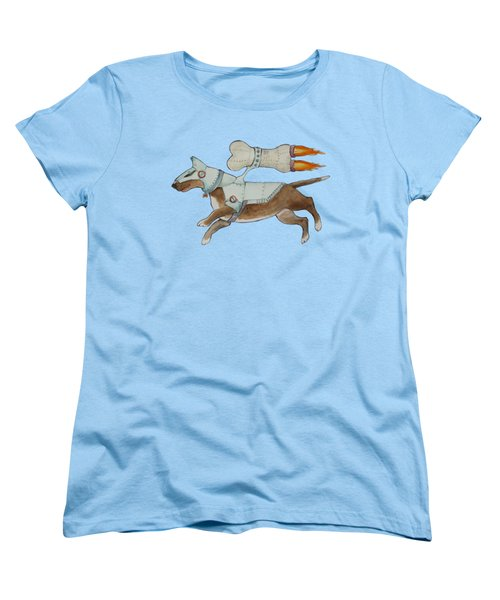 Women's T-Shirt (Standard Cut) featuring the painting Bone Commander by Jindra Noewi