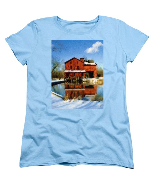 Women's T-Shirt (Standard Cut) featuring the photograph Bonneyville In Winter by Sandy MacGowan