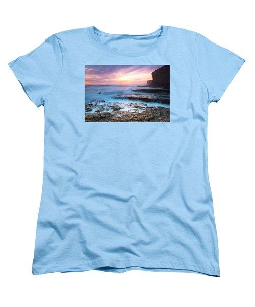 Women's T-Shirt (Standard Cut) featuring the photograph Bonny Doon Beach by Catherine Lau