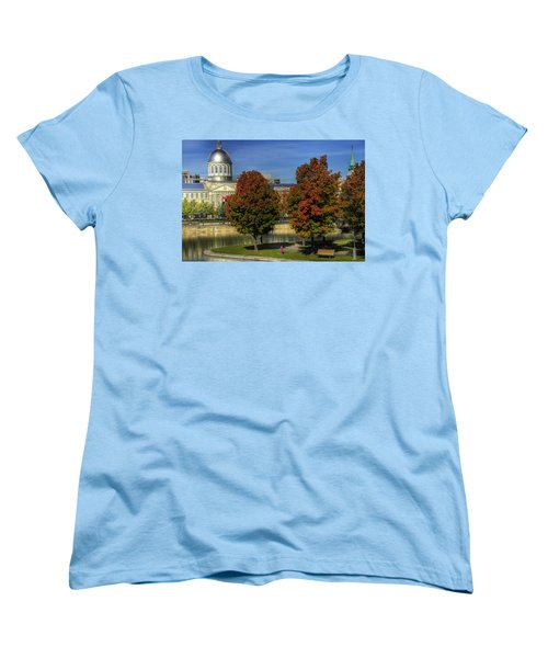 Women's T-Shirt (Standard Cut) featuring the photograph Bonsecours Market by Nicola Nobile