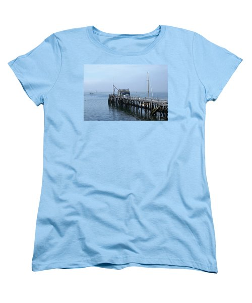Boothbay Shipyard Dock Women's T-Shirt (Standard Cut)
