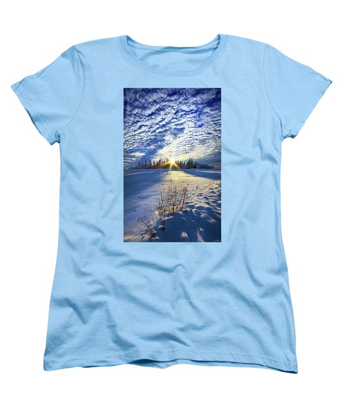 Women's T-Shirt (Standard Cut) featuring the photograph Born As We Are by Phil Koch