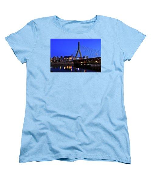Boston Garden And Zakim Bridge Women's T-Shirt (Standard Cut)