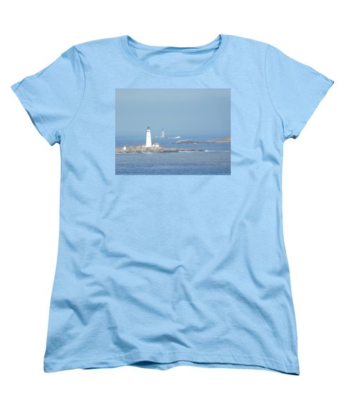 Boston Harbor Lighthouses Women's T-Shirt (Standard Cut) by Catherine Gagne