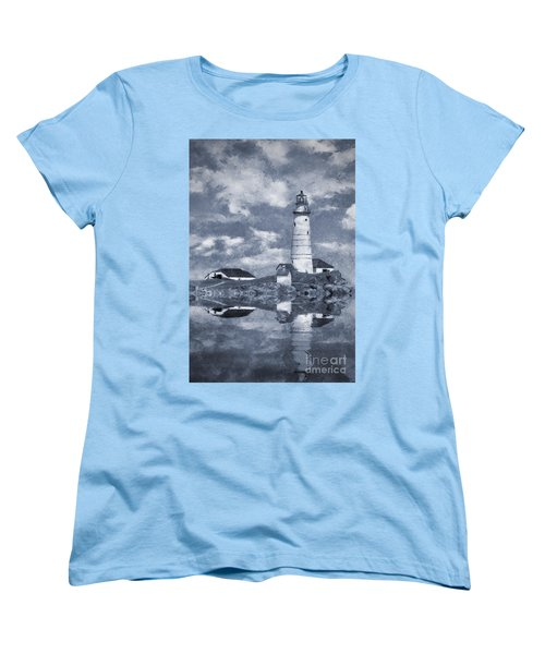 Women's T-Shirt (Standard Cut) featuring the photograph Boston Light  by Ian Mitchell