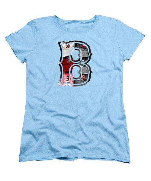 Boston Red Sox B Logo Women's T-Shirt (Standard Cut)